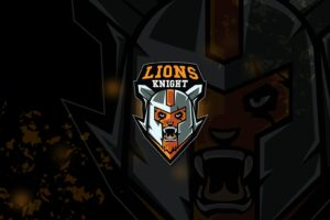 esport logo – lion knight