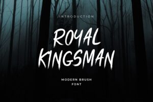 royal kingsman handbrush typeface