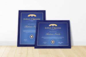certificate brand appreciation