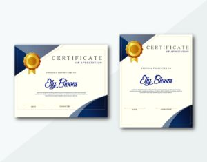 certificate service appreciation