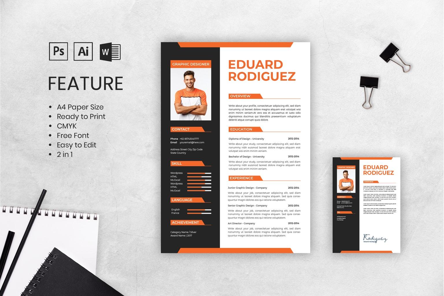 Cv Resume Content Graphic Design