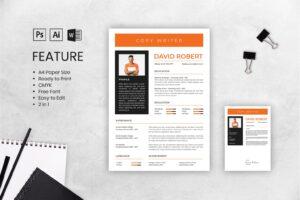 cv resume freelance copywriter