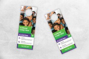 door hanger social donation