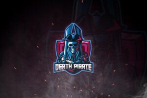 esport logo death pirate