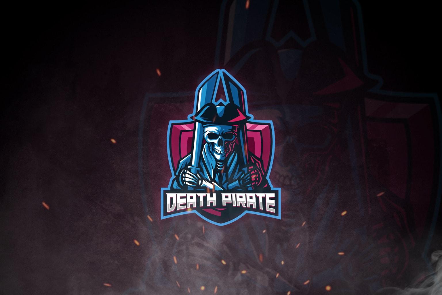 esport logo death pirate