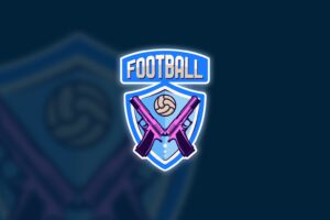 esport logo football gun