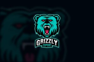 esport logo grizzly bear