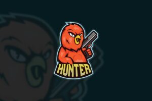 esport logo hunter duck