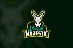 esport logo majestic rabbit
