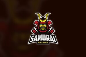 esport logo samurai warrior