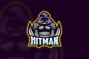 esport logo skilled hitman
