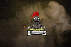 esport logo steel knight warrior