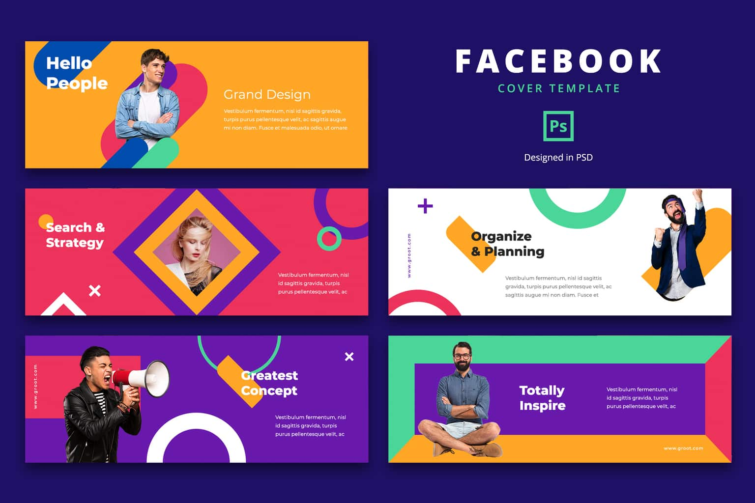 facebook cover strategy organize project