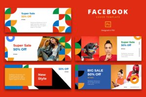 facebook cover vibrant casual style