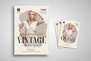 flyer vintage fashion collection