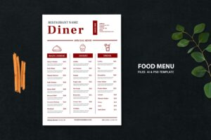 food menu special dinner dishes