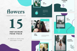 instagram banner fashion flower theme 5