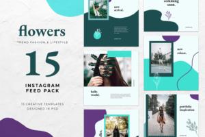 instagram banner fashion flower theme 5