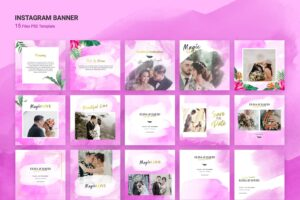 instagram banner magic love wedding