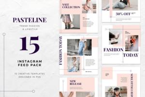 instagram banner pasteline fashion style 5