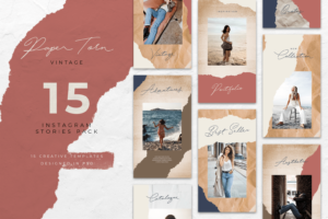 instagram banner ripped vintage style 5