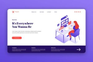 isometric landing pages analysis statistic service