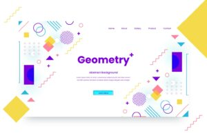 abstract background flat geometric shape 3