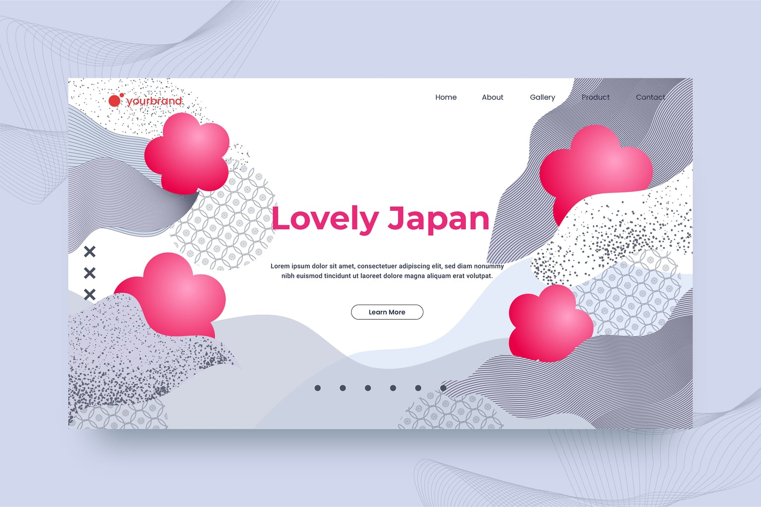 abstract background geometric japanese theme