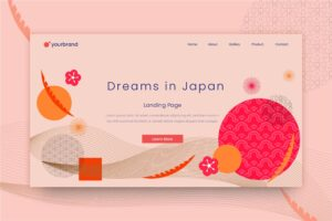 abstract background modern japanese style