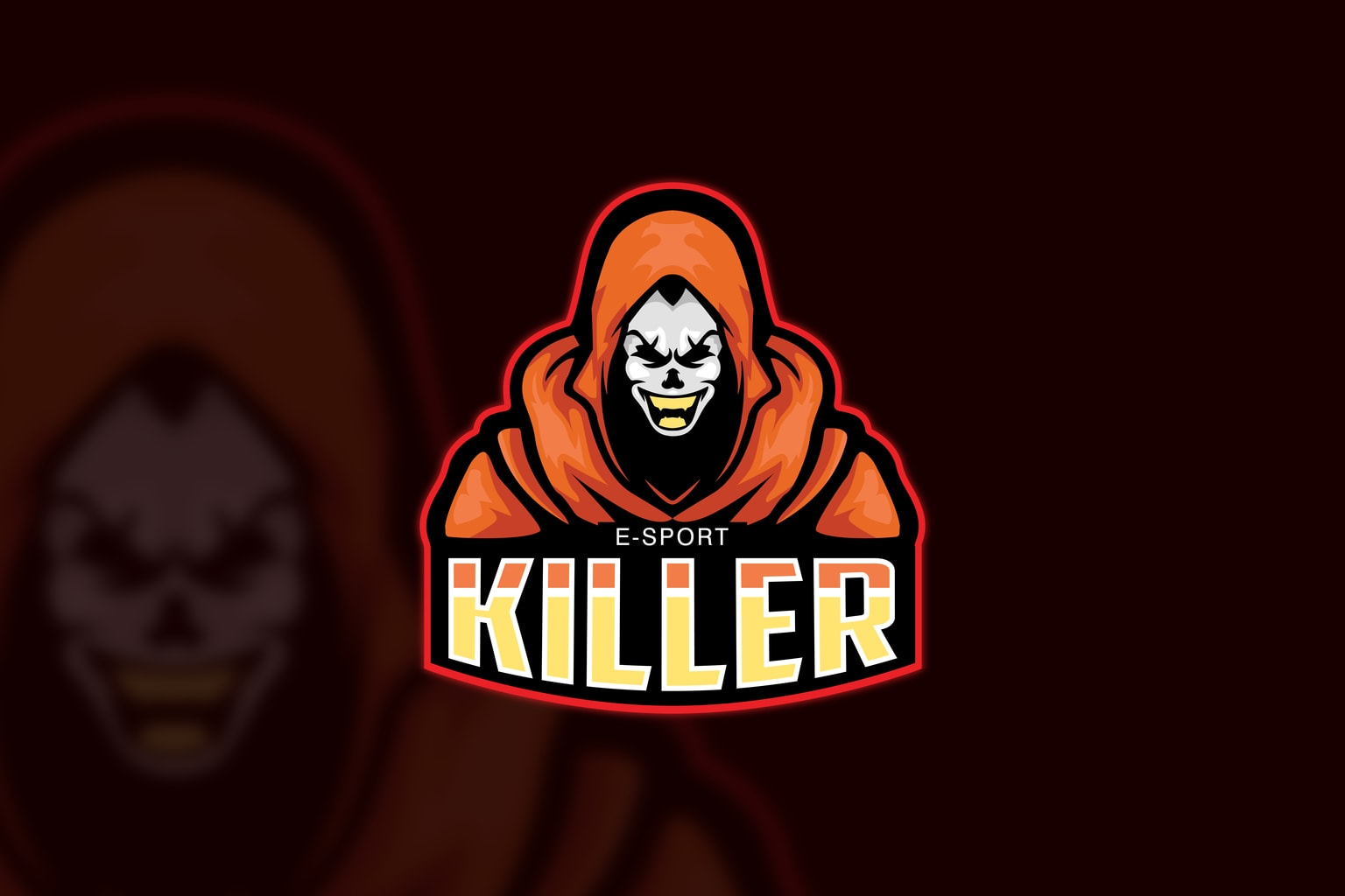 esport logo killer figure
