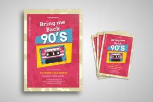 flyer 90s music nostalgia