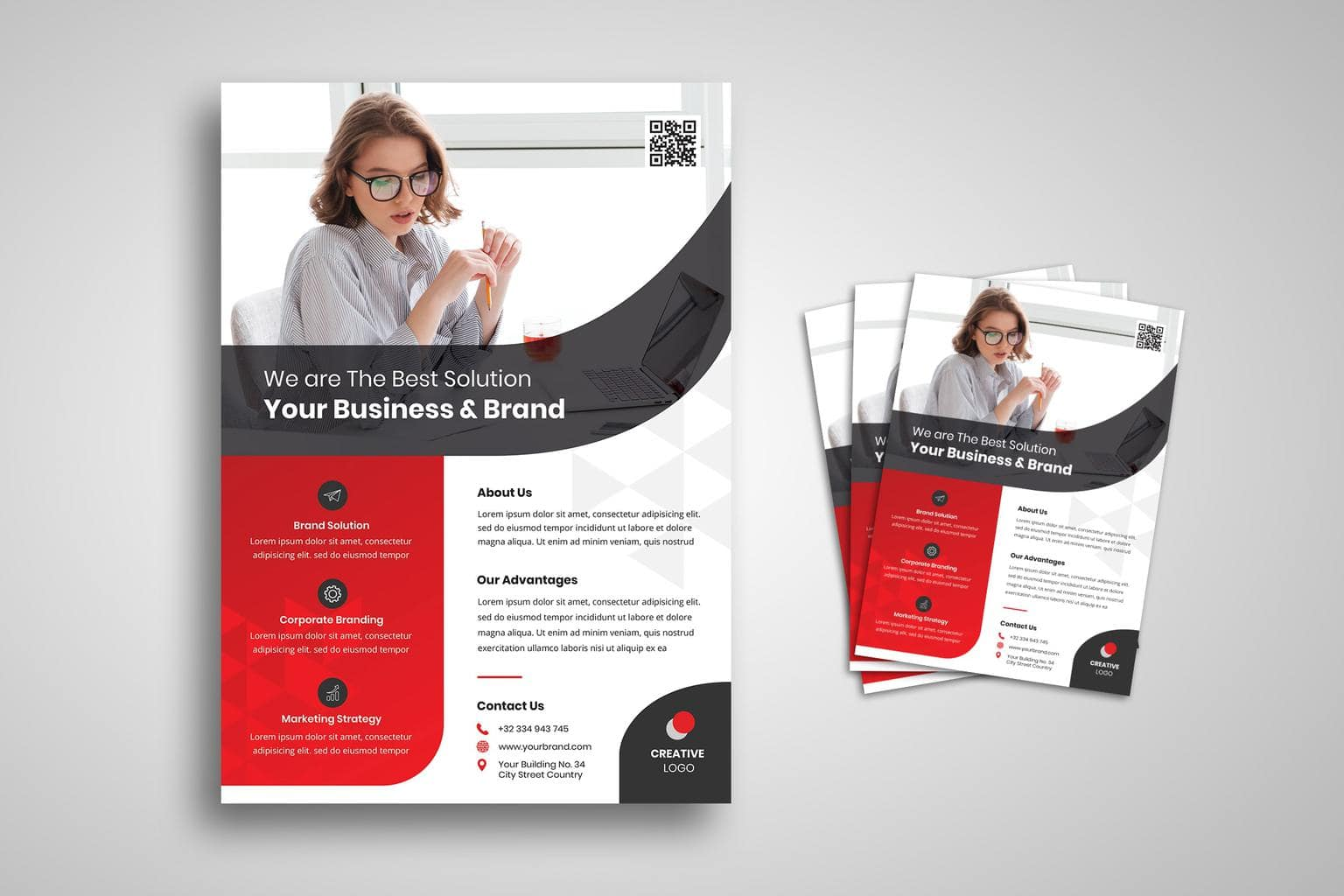 flyer creative business brand solution 1