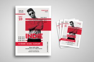 flyer dj music indie