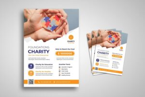 flyer education healthy charity
