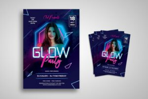flyer glow music party