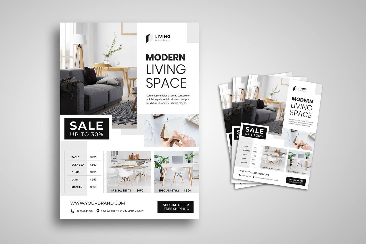 flyer modern living space 4