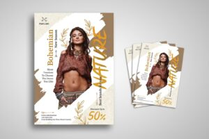 flyer nature bohemian style