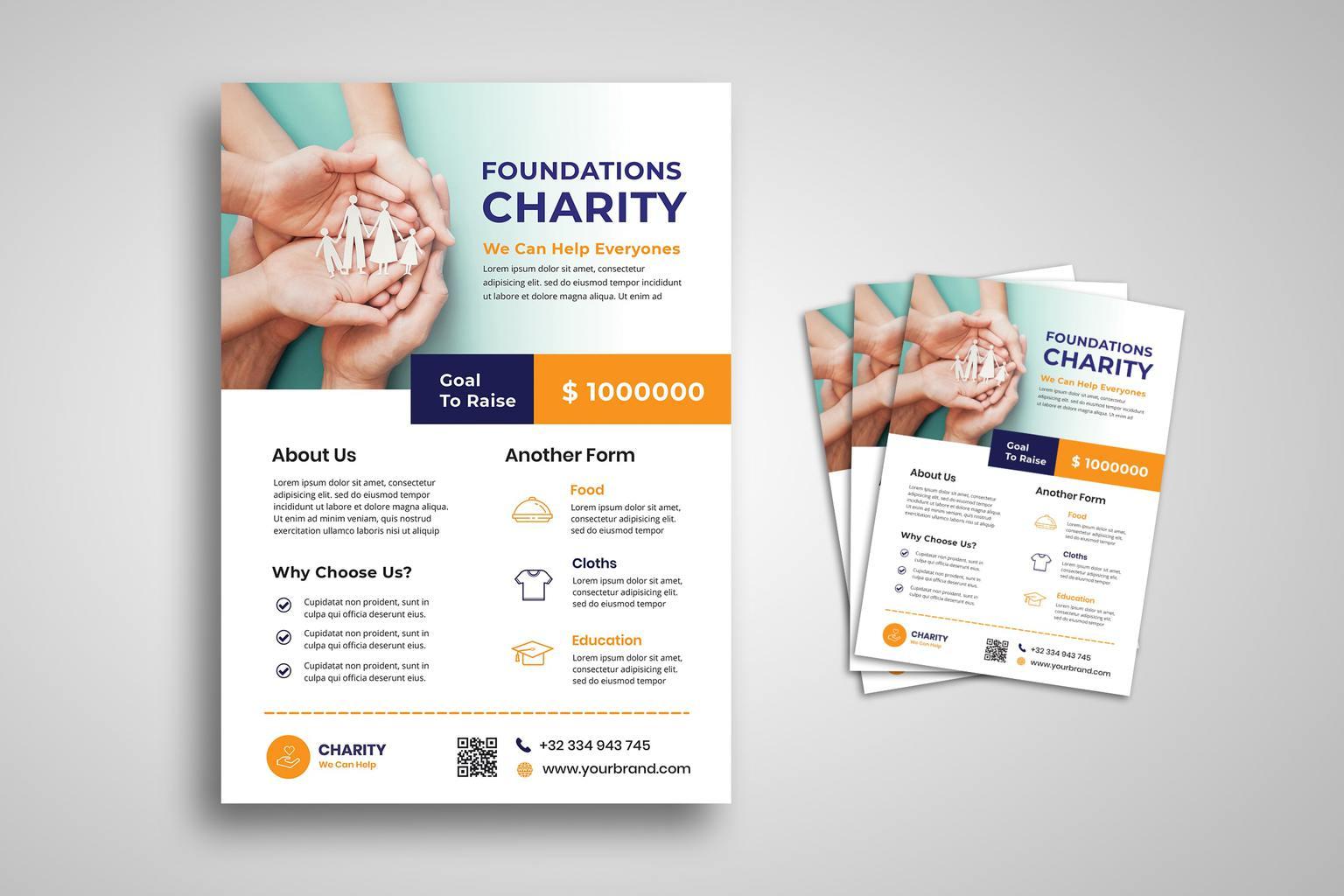 flyer social charity foundation