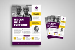 flyer template charity for everyone 2