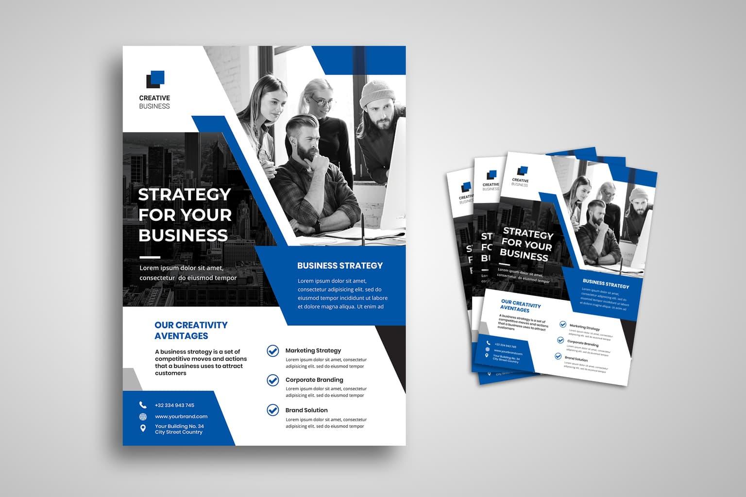 flyer template creativity strategy advantages