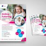 flyer template elementary online tutoring