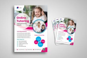 flyer template elementary online tutoring