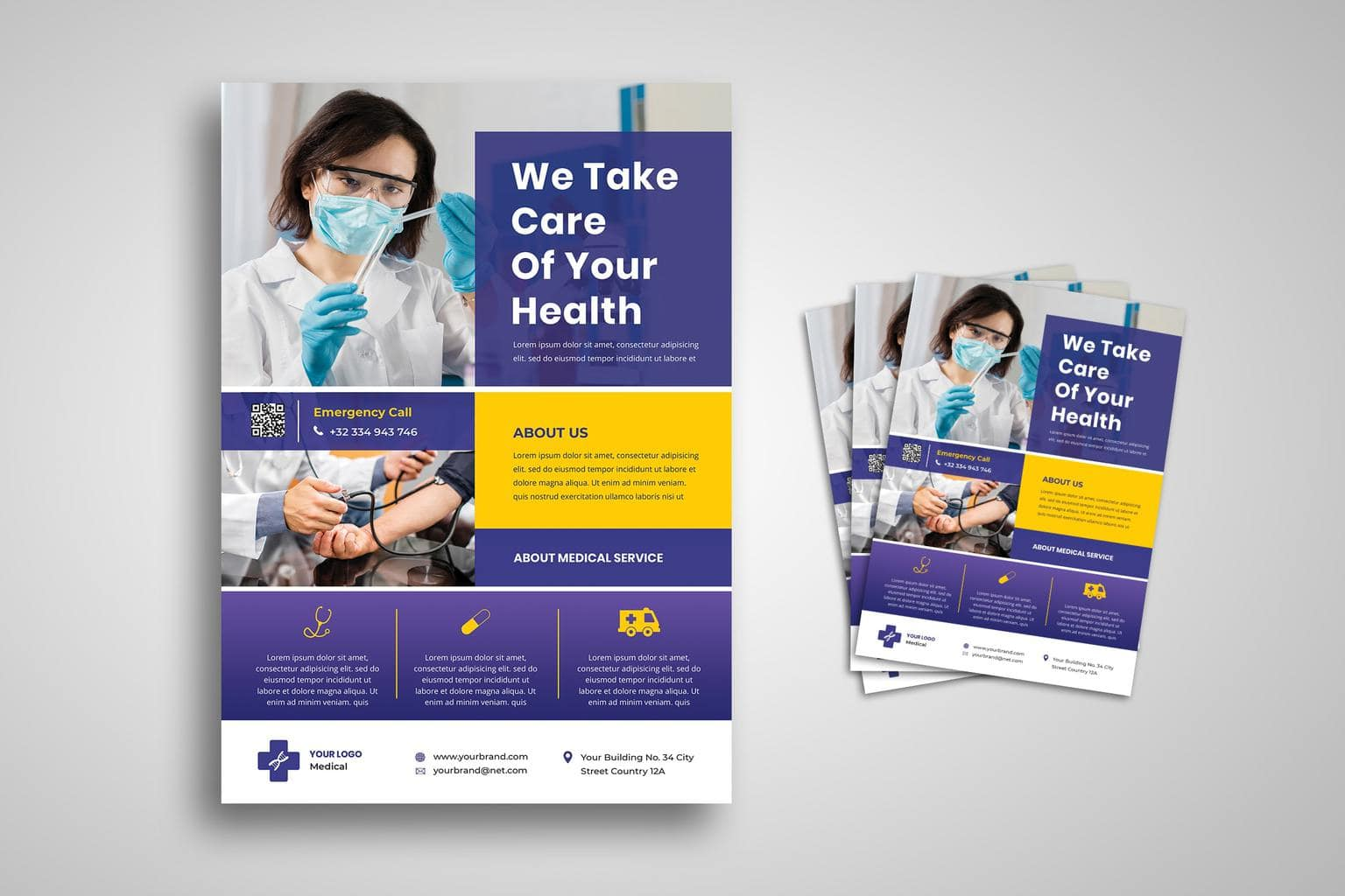 flyer template medical care services