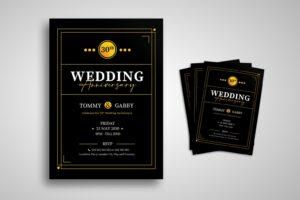 flyer wedding anniversary