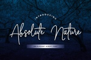 fonts absolute nature