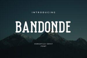 fonts bandonde versatile serif