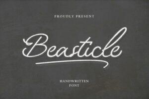 fonts beasticle handwritten
