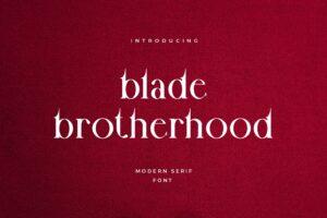 fonts blade brotherhood