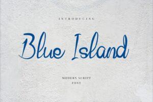 fonts blue island modern script