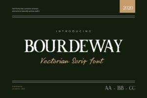 fonts bourdeway serif